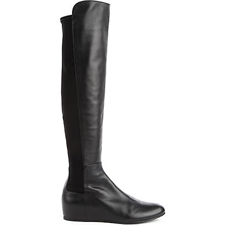 STUART WEITZMAN Mainline leather knee-high boots (Black