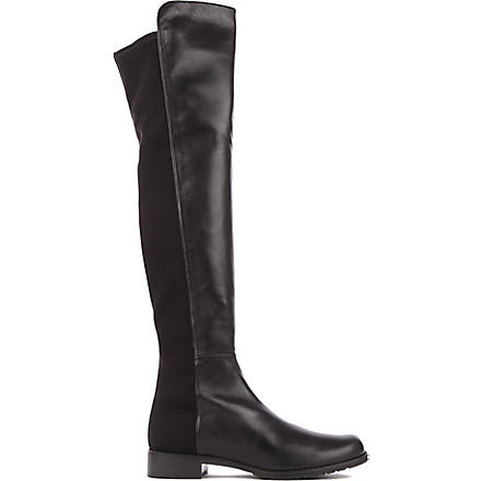 STUART WEITZMAN 5050 leather riding boots (Black