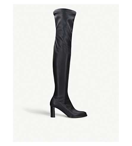 STELLA MCCARTNEY Over-the-knee faux-leather boots (Black