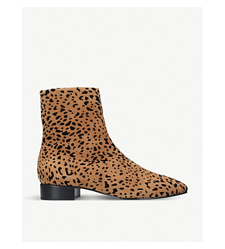 RAG AND BONE Aslen cheetah-print suede ankle boots (Other