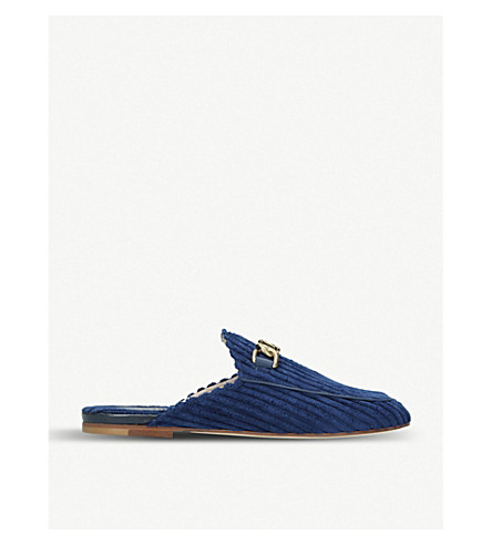 TODS Gommas Leggero suede backless loafers (Blue