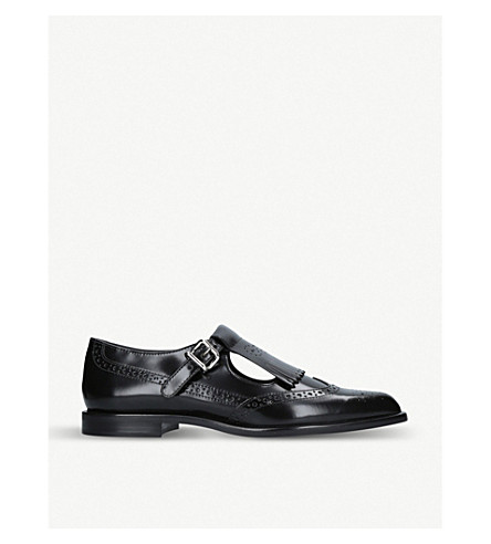 TODS Monk leather shoes (Black