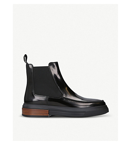 TODS Gomma patent-leather chelsea boots (Black