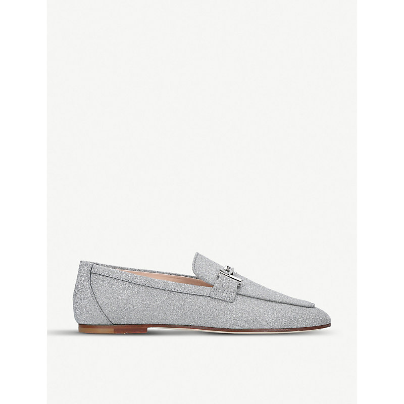 Double T leather moccasins