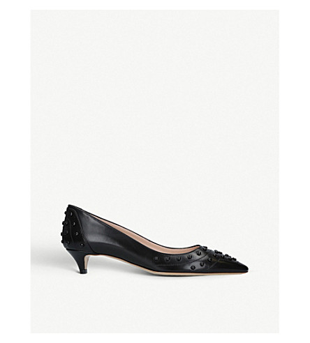 Cheapest Price For Sale Outlet Latest TODS Studded leather pumps Black Buy Cheap Visa Payment fEbYDlCb