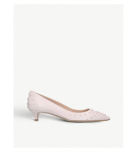 TODS Studded leather pumps (Pale+pink