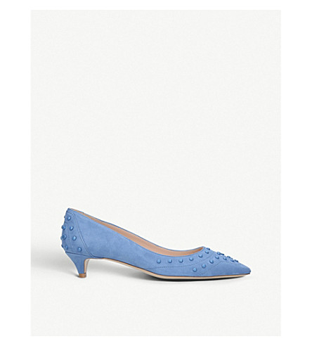 TODS Blue Studded leather TODS Studded pumps dqXX8n6w