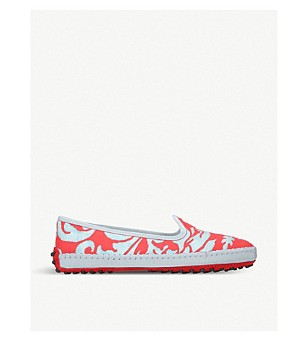 TODS Gommino jacquard slippers (Red+comb
