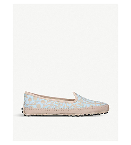 TODS Gommino jacquard slippers (Blue+other