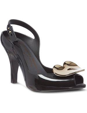 MELISSA + VIVIENNE WESTWOOD Lady Dragon heart court shoes