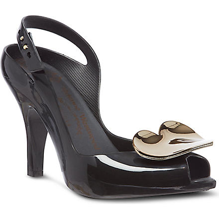 MELISSA + VIVIENNE WESTWOOD Lady Dragon heart court shoes (Blk/other
