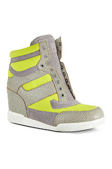 MARC BY MARC JACOBS Cracked leather wedge high tops