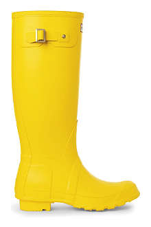 HUNTER Selfridges yellow wellies