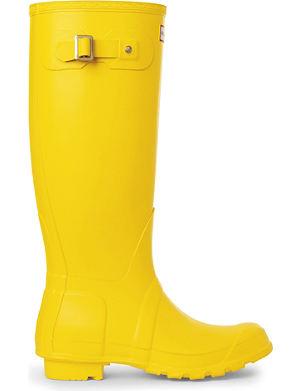 HUNTER Selfridges yellow wellies