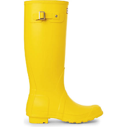 HUNTER Selfridges yellow wellies (Yellow