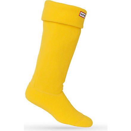 HUNTER Fleece welly socks (Yellow