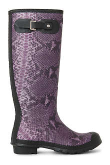 HUNTER Carnaby snake wellies