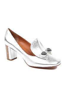 MARC BY MARC JACOBS Daga metallic leather heeled loafers