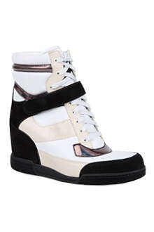 MARC BY MARC JACOBS Kisha leather wedge trainers