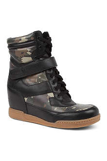 MARC BY MARC JACOBS Kisha camouflage wedge trainers