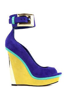 BRIAN ATWOOD Alouette leather peep toe platform wedges
