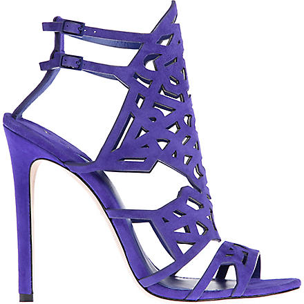 BRIAN ATWOOD Laplata suede caged sandals (Purple