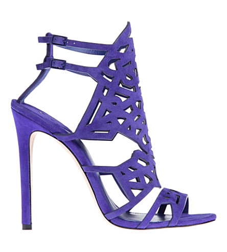B BY BRIAN ATWOOD Laplata suede caged sandals (Purple