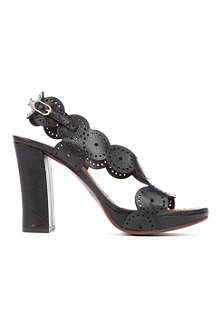 CHIE MIHARA Cristi scalloped leather sandals