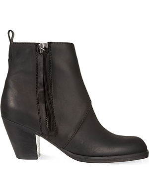 ACNE Pistol Short leather ankle boots