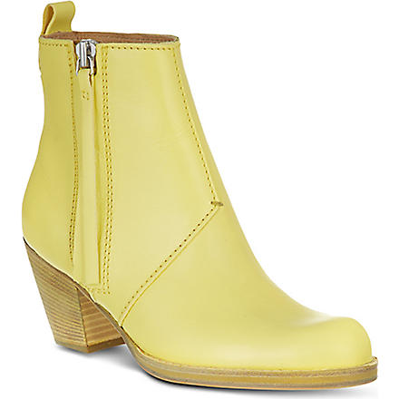 ACNE Pistol short ankle boots (Yellow