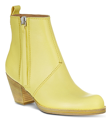 ACNE STUDIOS Pistol short ankle boots (Yellow