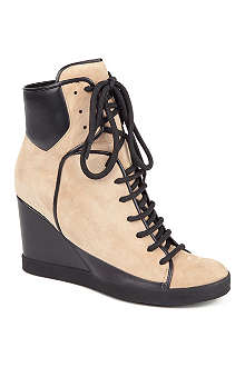 SEE BY CHLOE Peter suede wedge trainers