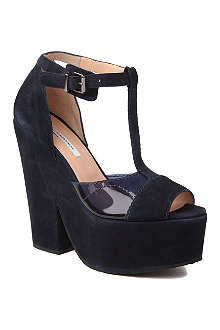 CARVEN Suede wedge sandals