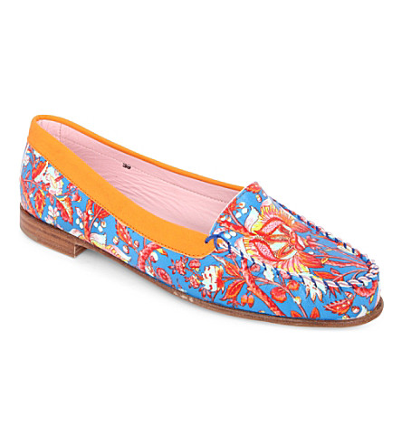 CARVEN Zespa printed loafers (Turquoise