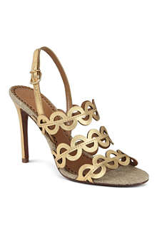 TORY BURCH Ginny metallic leather sandals