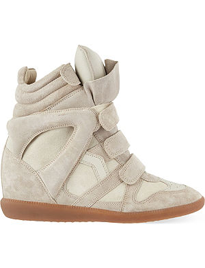 ISABEL MARANT Bekett suede hi-top wedged sneakers