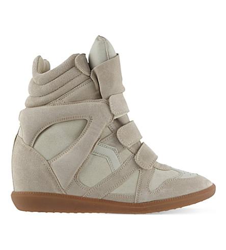 ISABEL MARANT Bekett hi-top sneakers (Khaki