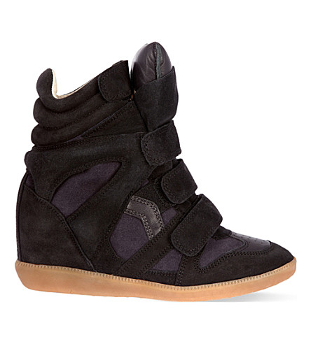 ISABEL MARANT Bekett leather high-top trainers (Navy