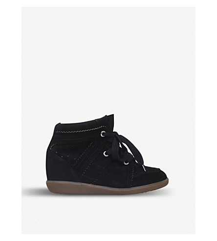 ISABEL MARANT Bobby suede wedge boots (Black