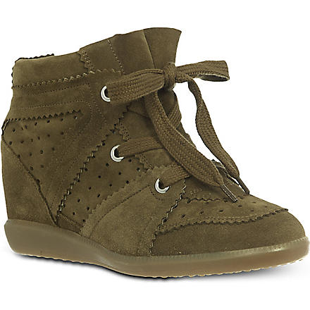 ISABEL MARANT Bobby wedge trainers (Khaki