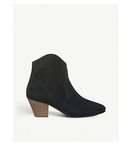ISABEL MARANT ETOILE Dicker suede ankle boots (Black