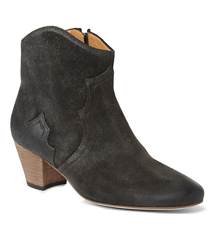 ISABEL MARANT Dicker suede ankle boots (Grey