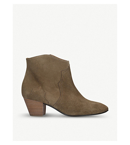 ISABEL MARANT ETOILE Dicker suede ankle boots (Brown
