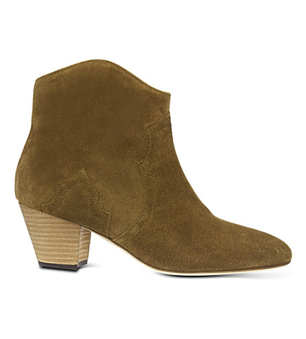 ISABEL MARANT Dicker suede ankle boots (Beige