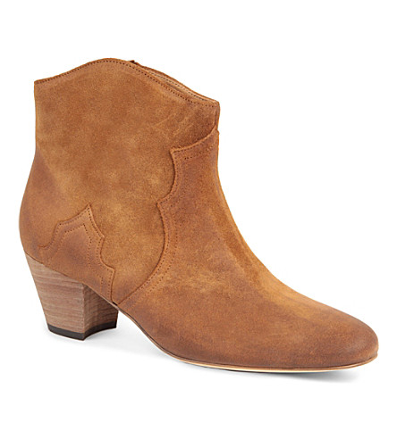ISABEL MARANT Dicker suede ankle boots (Camel