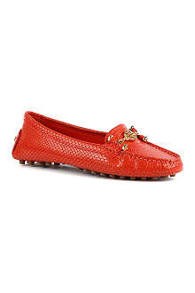 TORY BURCH Leather leather driver loafers