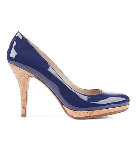 KORS MICHAEL KORS Kylah patent leather courts (Blue