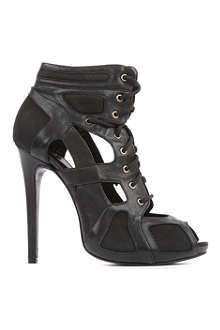MCQ ALEXANDER MCQUEEN Cut-out leather ankle boots