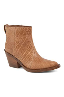 ACNE Donna textured leather ankle boots