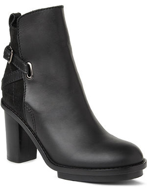 ACNE STUDIOS Cypress leather and suede ankle boots